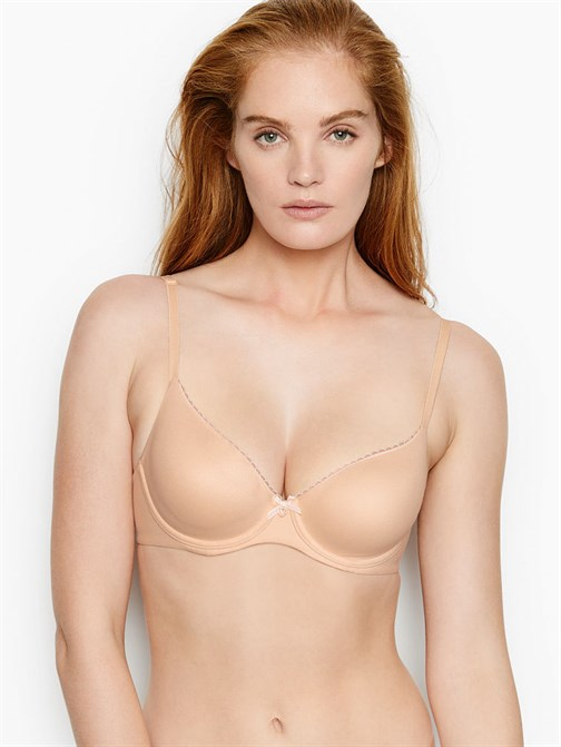 Unlined Smooth Picot Trim Demi Bra